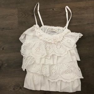 Eyelet lacy Abercrombie & Fitch tiered tank